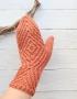 Mittens Miracle terracotta - varezhki 79  70x90