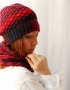 Set of hat and cowl red melange - 15 70x90