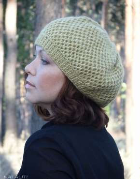 Knitted beret - Gold 6 290x370