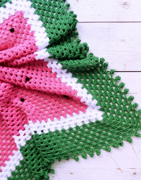 Knitted baby blanket watermelon - PLED 173 290x370