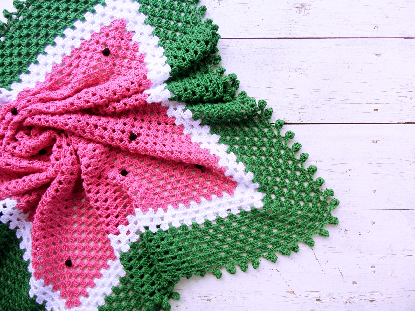 Knitted baby blanket watermelon - PLED 173