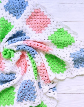 Knitted baby blanket - PLED 278 290x370