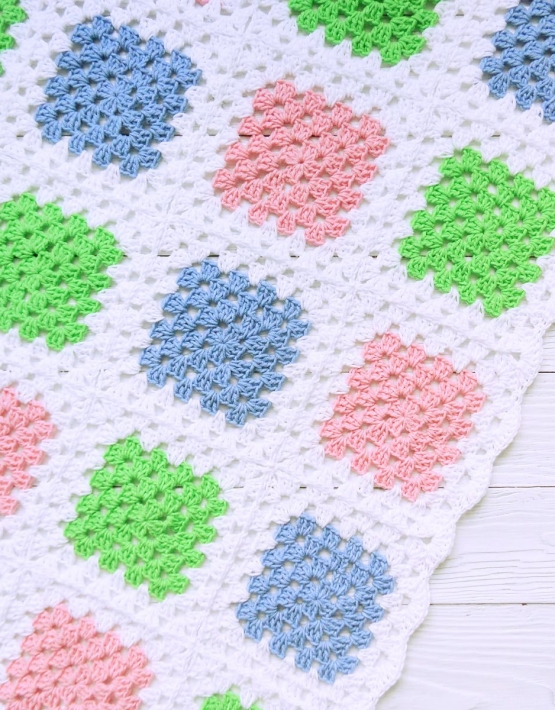 Knitted baby blanket - PLED 279 555x710