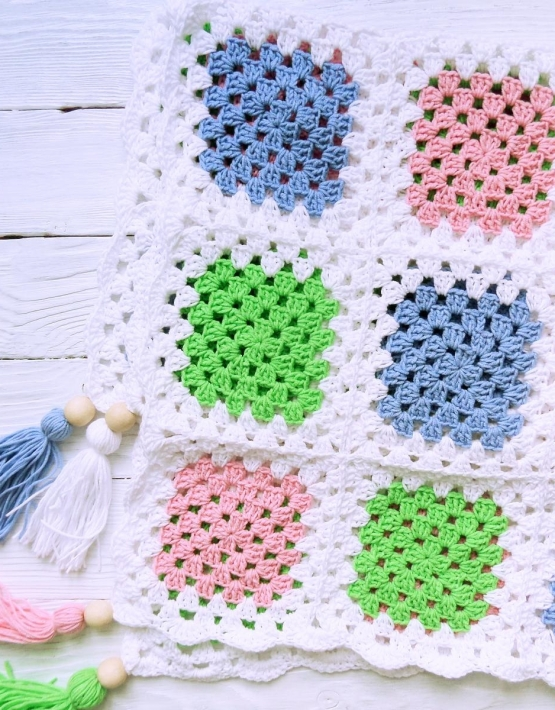 Knitted baby blanket - PLED 280 555x710
