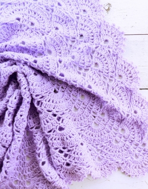 Knitted baby blanket Lavender - PLED 286 290x370
