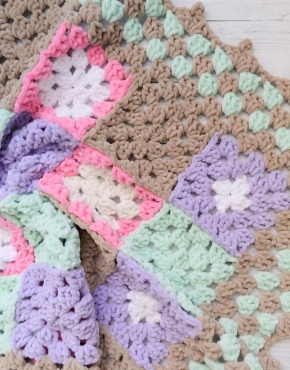 Knitted baby blanket square - PLED 299 290x370