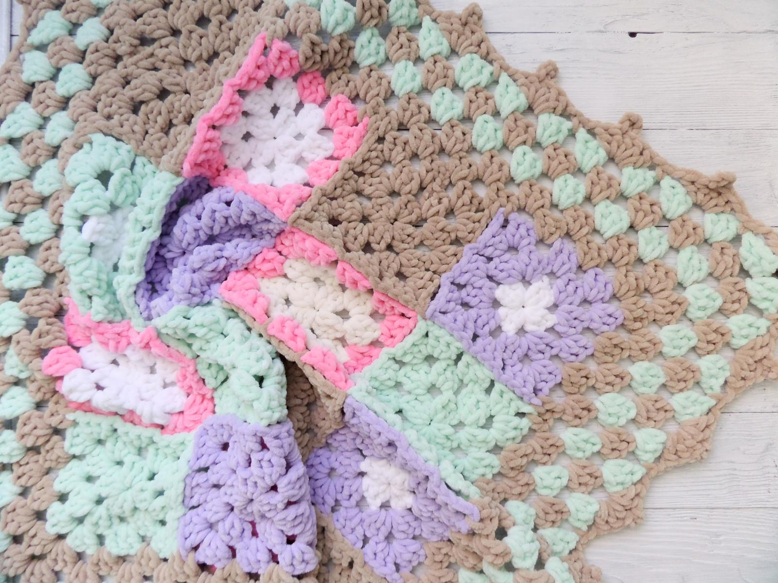 Knitted baby blanket square - PLED 299