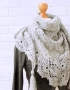 Shawl with gray lace - ajoure 26 70x90