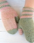Mittens Miracle green-rose - mitenki 77 70x90