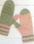 Mittens Miracle green-rose - mitenki 80 70x90