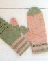 Mittens Miracle green-rose - mitenki 81 70x90
