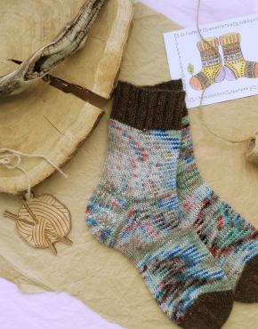 Hand knitting socks S-01 - nosochki 28 290x370