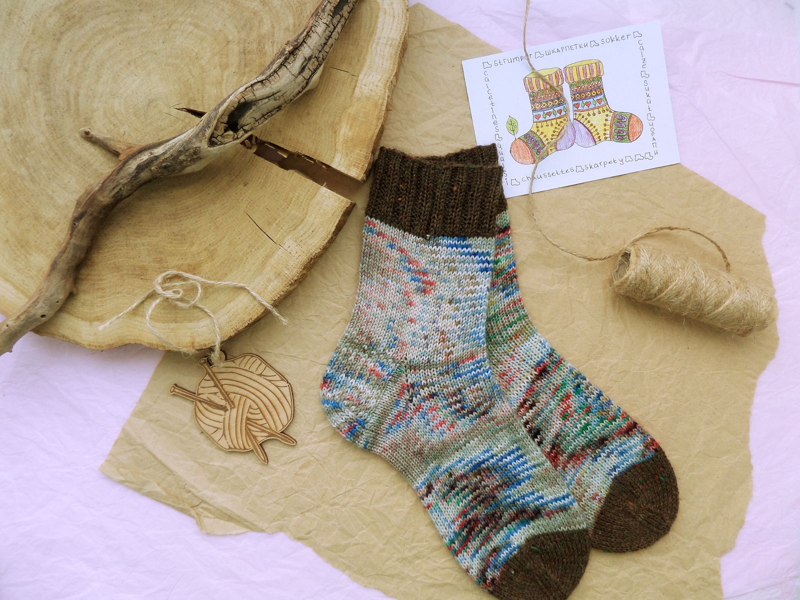 Hand knitting socks S-01 - nosochki 28