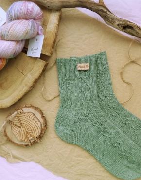 Hand knitting socks S-04 - nosochki 35 290x370