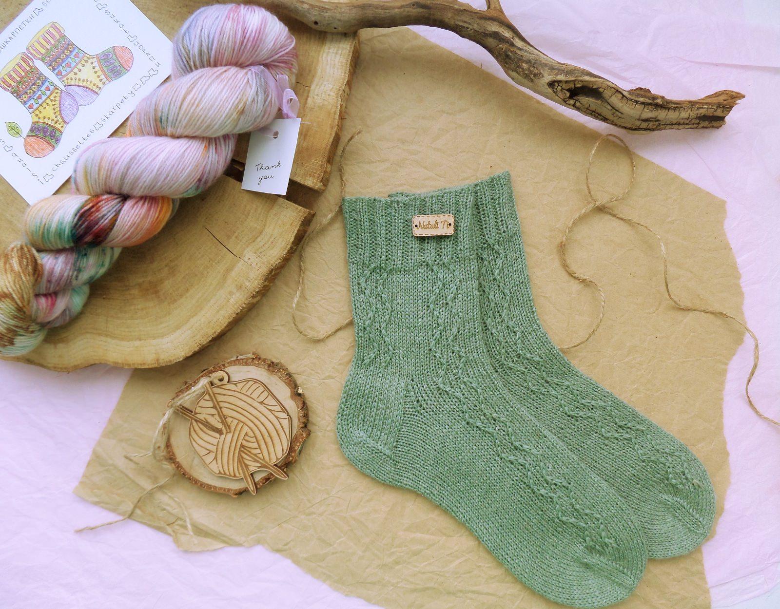 Hand knitting socks S-04 - nosochki 35