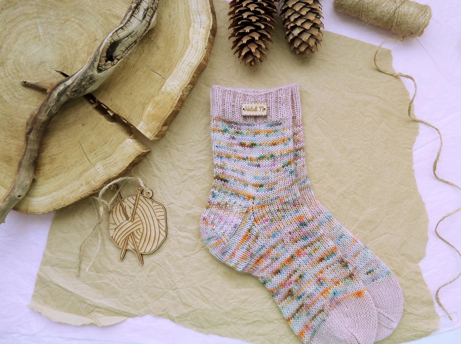 Hand knitting socks S-03 - nosochki 49