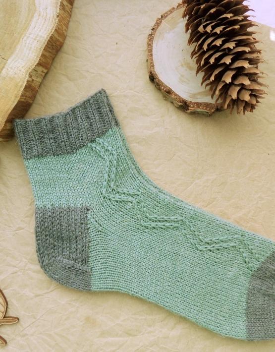 Hand knitting socks S-05 - nosochki 59 555x710