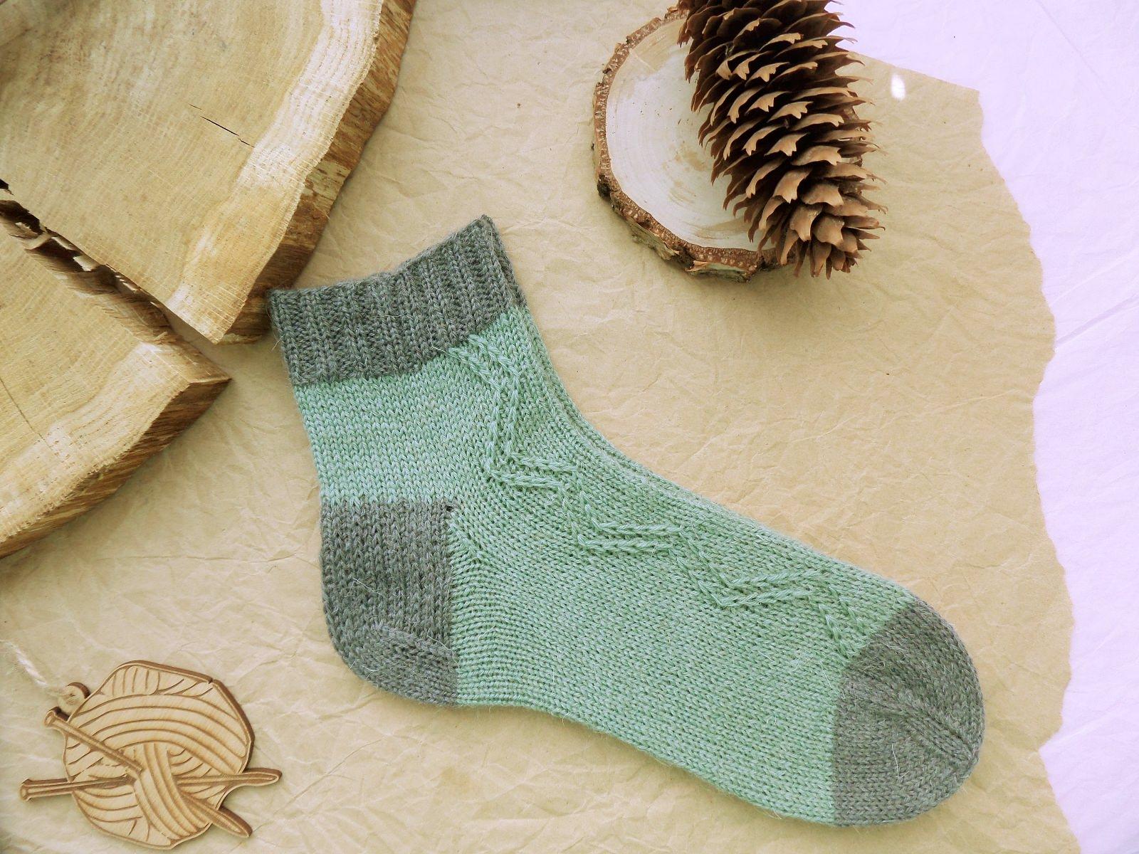 Hand knitting socks S-05 - nosochki 59