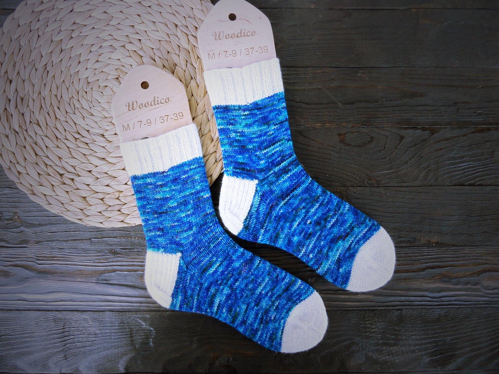 Hand knitting socks S-02 - nosochki 60