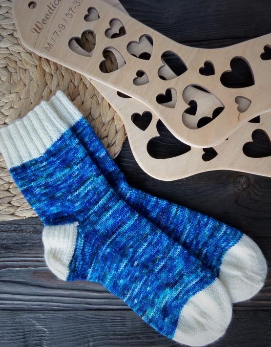 Hand knitting socks S-02 - nosochki 63 555x710
