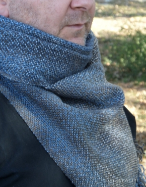 Scarf hand weaving denim - tkanye sharfy 29 290x370