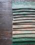 Scarf hand weaving green-brown - tkanye sharfy 317 70x90
