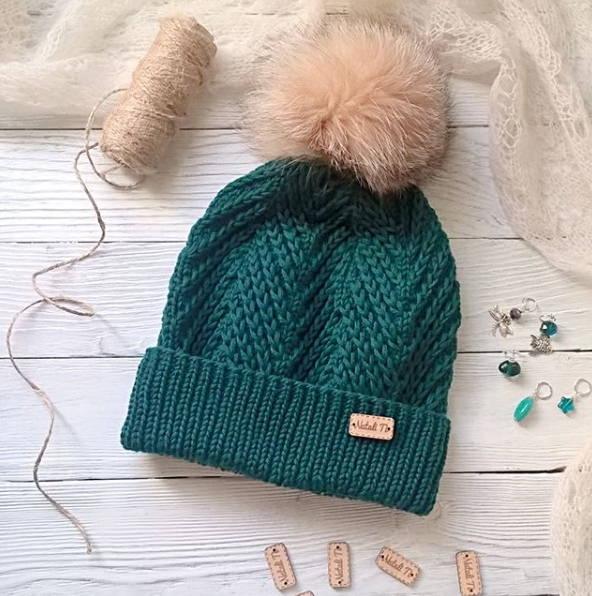 Green hat - tkanye sharfy 392