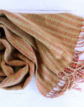 Scarf hand weaving red-brown - tkanye sharfy 443 290x370