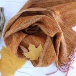 Scarf hand weaving green-brown - tkanye sharfy 452 150x150